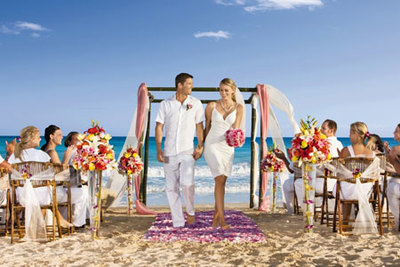An tropical beach wedding by PJ!